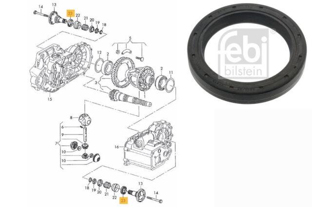 Transmission /Gearbox Shaft Seal  Audi, Seat, Skoda, VW   FEBI BILSTEIN 01519