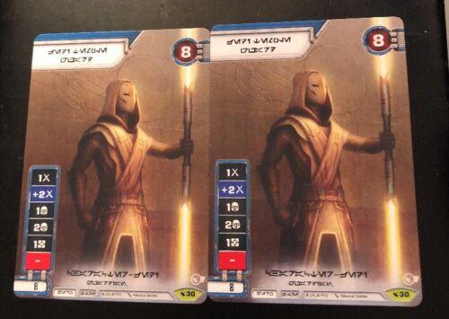 Star Wars Destiny Jedi Temple Guardian #30 Alt Art Promo X2