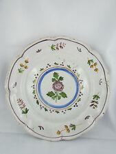 ancienne assiette en faience de charolles decor floral