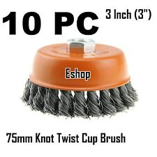 German Made Wire Brush Cup 2-3//4″ x 5//8″-11 Steel Wire Knot Angle Grinder Wheel