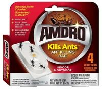 2 x 4 pack amdro ant killing baits indoor outdoor kills ants 8 stations