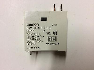 Omron interruptor de relé eléctrico 18VDC AEG5WA1ER18 G5W-1112TP-ER18 16A 250VAC 30VDC