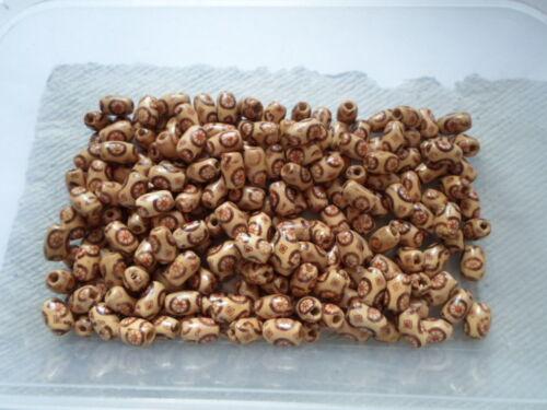 50 gramos de cuentas de madera ~ 12mm arroz ~ Crema
