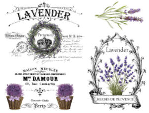 Image Is Loading Vintage French Provence Lavender Furniture Transfers  Waterslide Decals