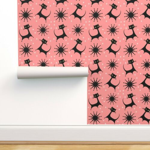 Wallpaper Roll Retro Vintage Mid Century Atomic Starburst Kitsch 24in x 27ft
