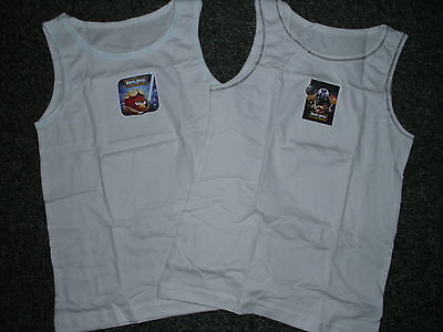 2 Pack Of Boys  Wars Angry Birds Vests BNIP, Ages 3-4, 5-6 & 7-8 (PJ18)