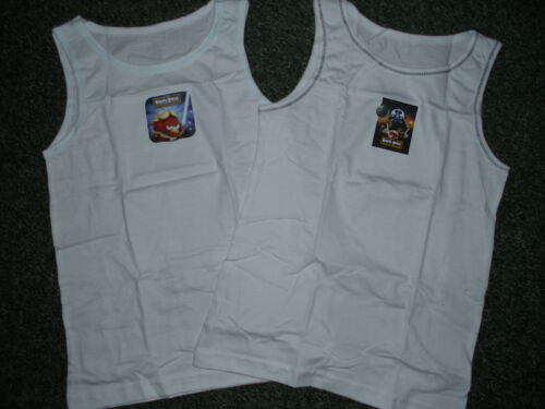 5-6 /& 7-8 PJ18 2 Pack Of Boys Star  Wars Angry Birds Vests BNIP Ages 3-4