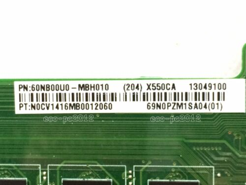 # 60NB00U0-MBH010 # ASUS X550CA Intel i3-3217u 4G Motherboard 90NB00U0-R00140