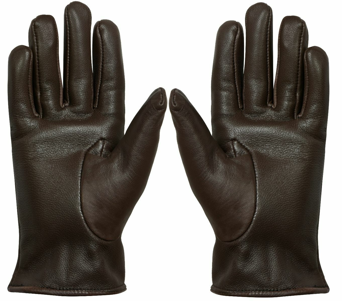 Women Genuine Nappa Leather Gloves Thermal Lined Driving Winter Classic Brown