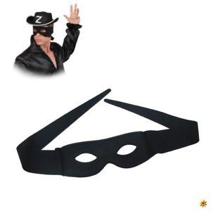 Zorro Maske Schwarz Augenbinde Fasching Karneval Rauber Krieger