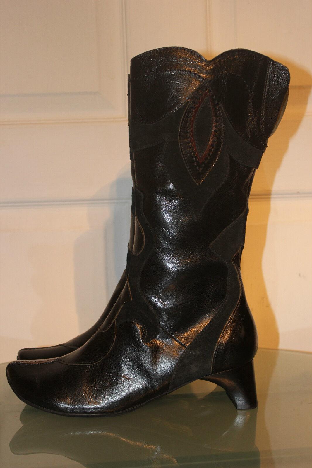 in vendita Think SUPER Bel Nero Echt Leder stivali, stivali, stivali, Tg. 37, 2x indossato   confortevole