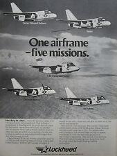 3/81 PUB LOCKHEED S-3A VIKING US NAVY TANKER SUB HUNTER ELECTRONIC WARFARE AD