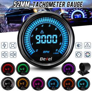 12V-2-039-039-52mm-Jauge-Tachymetre-Tachometre-Compte-Tours-LED-0-9000RPM-Digital