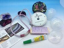 Jeranimo Kumihimo BRACELET SET LOOM Kit - beads, End caps Floss Trim