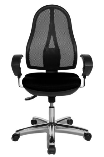 Bürostuhl Schreibtischstuhl Drehstuhl Topstar Open Point SY schwarz chrom B-Ware