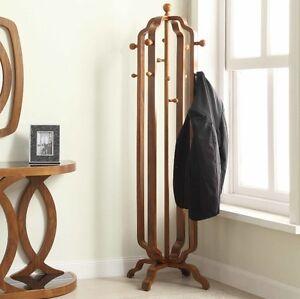 Vintage Coat Rack Free Standing Furniture Large Hallway ...