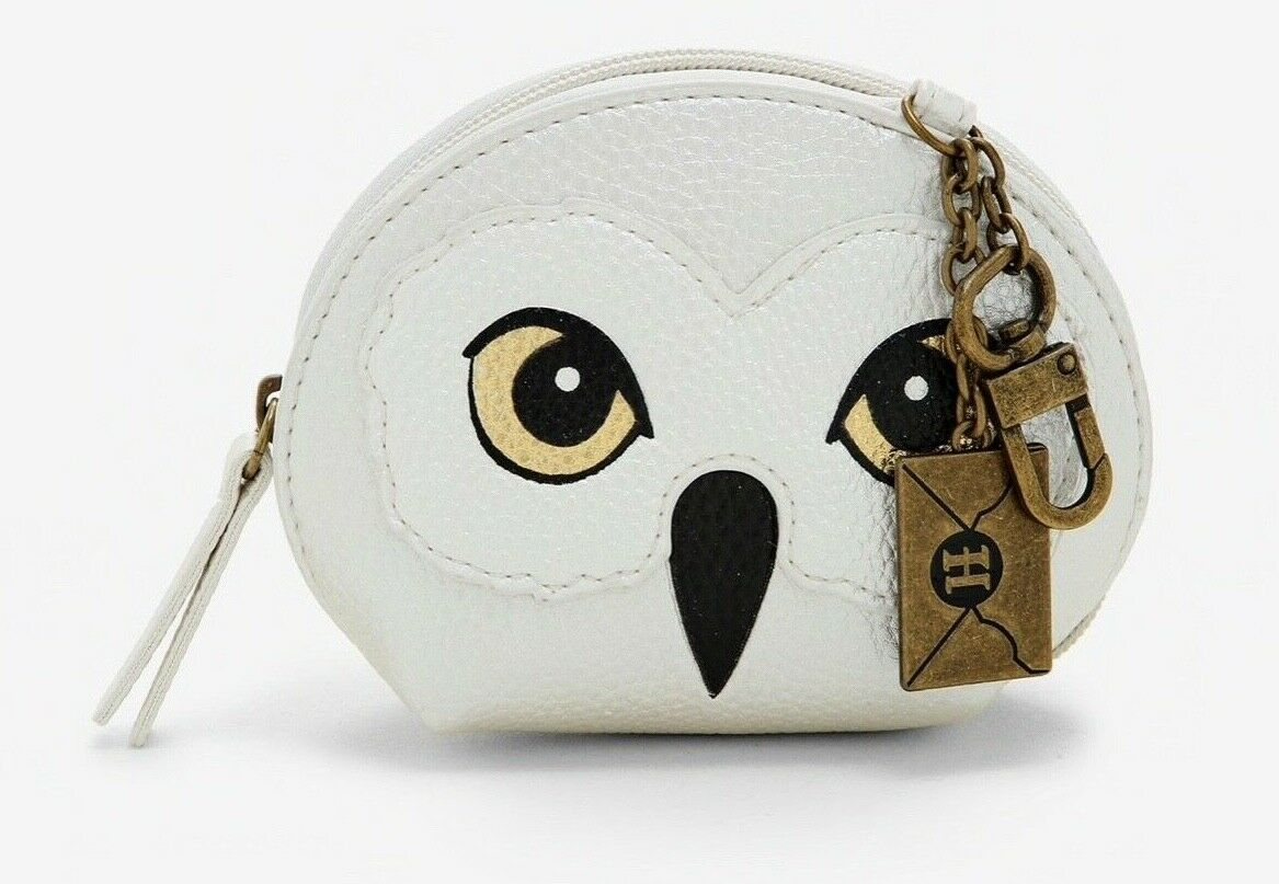 NEW! BIOWORLD Harry Potter HEDWIG Zip-Around Coin Purse with Charms