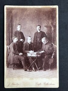 Victorian-Cabinet-Card-Crosby-Rotherham-Group-Of-Clergyman-1-Named-As-QUINK