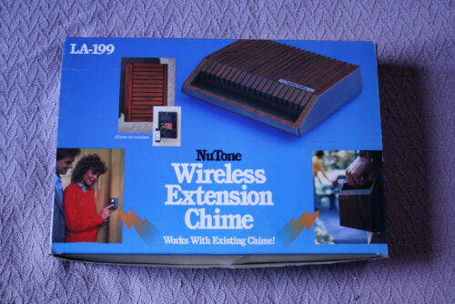 Vintage NuTone LA-199 Wireless Extension 2-note Door Chime Teak Wood Finish NOS