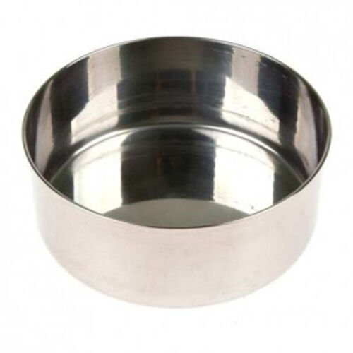 """Sauc 10pcs Stainless Steel 2.36"""" Round Table Small Dish Plate Set for Side Dish"""