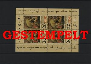 Germany-GDR-vintage-yearset-1989-Mi-3271-Sheetlet-Postmarked-Used