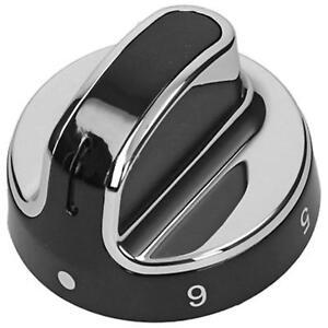 GENUINE-STOVES-NEW-WORLD-Genuine-Hob-Oven-Cooker-Knob-Silver-Black-444442687