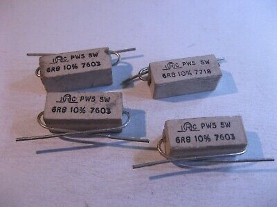 0.1ohm 5 Watt Resistors Wirewound Power TRW NOS Qty=8 Made in USA