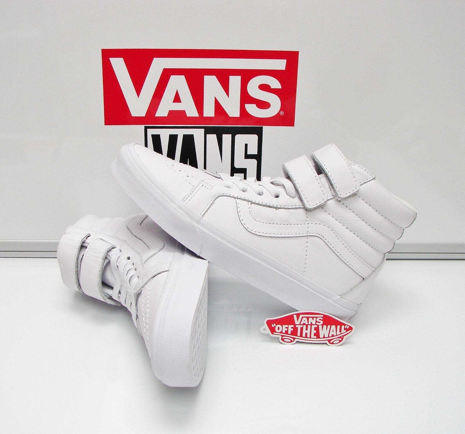 Vans SK8 Hi Reissue V Mono Leather True White VN0A3D28OP0 Men's Size: 11.5
