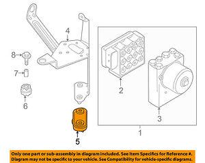 bmw oem abs anti lock brake system mount bracket lower insulator rh ebay com