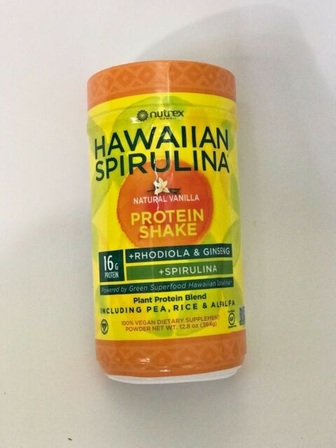 Hawaiian Spirulina Plant Protein Shake 12 8oz 16g Protein Vegan Non GMO