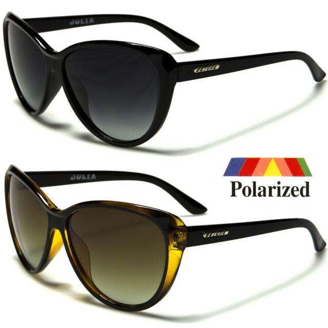 Black Cat Eye POLARIZED Sunglasses Retro Classic Vintage Design Women Fashion e