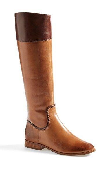 New Women's Jack Rogers Mercer II Oak LeatherTall Riding Equestrian Boots $298