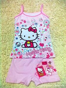 Girls kids lycra hello kitty disney princess cami tank vest singlet jpg  225x300 Hello kitty singlet ee1c5714e0