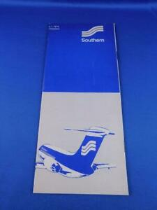 AUGUST-1976-SOUTHERN-AIRLINES-FLIGHT-DIRECTORY-SCHEDULE-TIMETABLE-ATLANTA