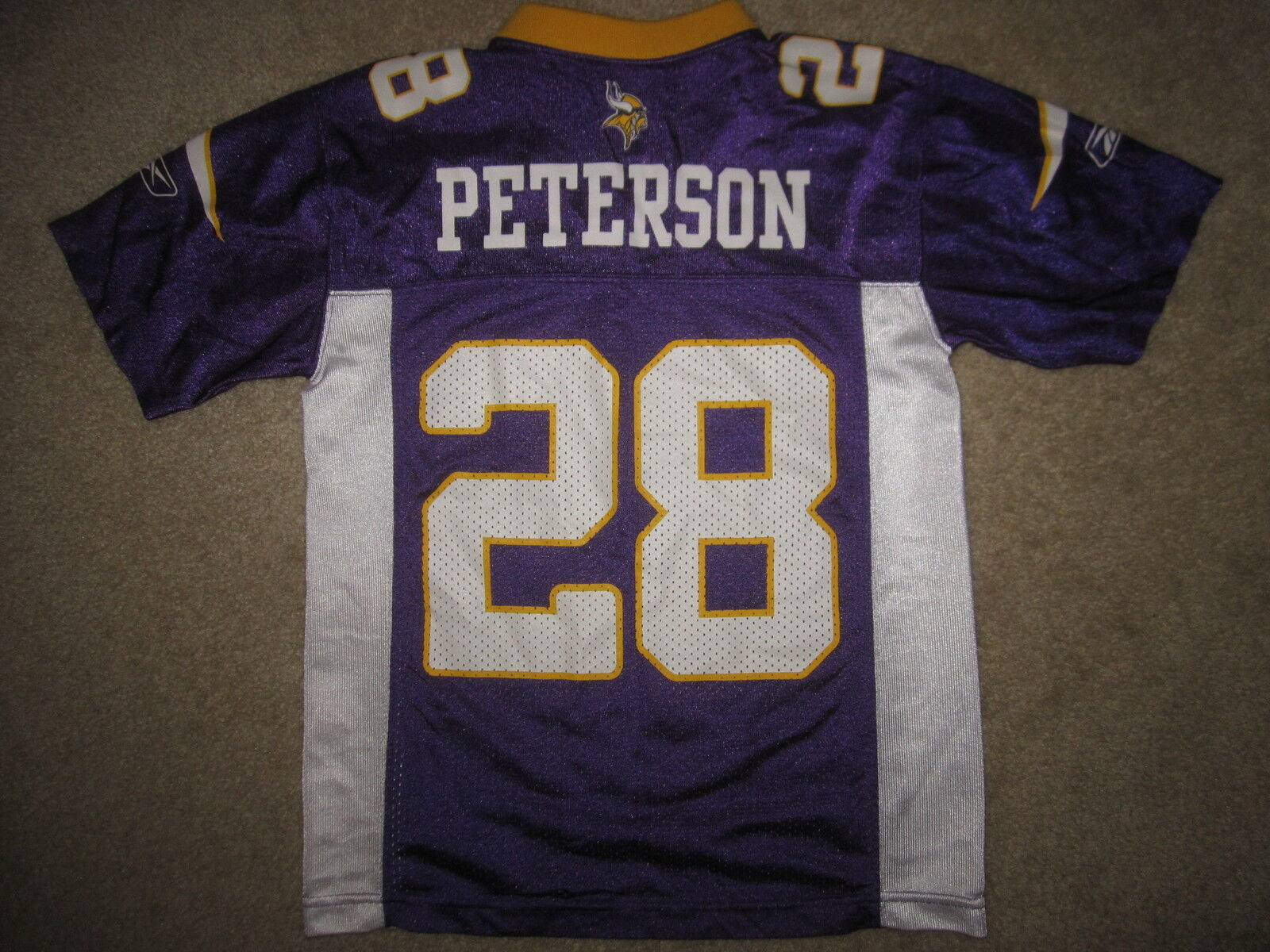 Adrian Peterson  28 Minnesota Vikings Reebok NFL Camiseta Youth Youth Youth S 8 Small  ¡no ser extrañado!