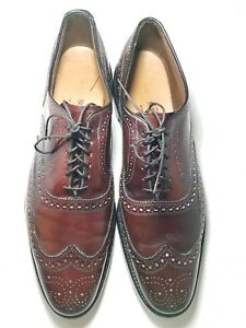 Image is loading Allen-Edmonds-Cambridge-Burgundy-Mens-Wingtip-Dress-Shoes- 9e6a2e8c460