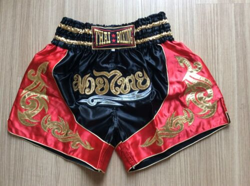 NEW DESIGN TWO-TONE COLOR THAI KICK BOXING SHORT MMA TRUNKS SATIN SIZE M-XXXL.