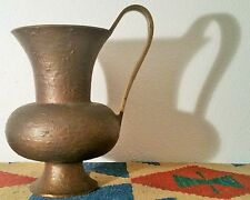 BRONZE EWER antique roman pitcher iranian middle eastern art vase vtg sculpture