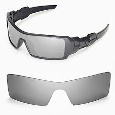 New Walleva Titanium Lenses For Oakley Oil Rig Sunglasses