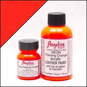 Angelus Lederfarbe Neon Feuer Orange 118ml (105,93€/1L) Leder Jacke Schuhfarbe