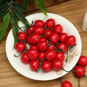 20-pcs-Artificial-Plastic-Foam-Cherries-Fake-Fruits-Wedding-Home-Decorations