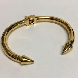 Kinsley Armelle Gold Hinged Spike Cuff Bracelet