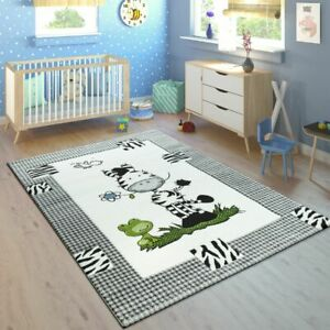 Details About Black White Kids Carpet Childrens Nursery Animals Rug Playroom Bedroom Baby Mats