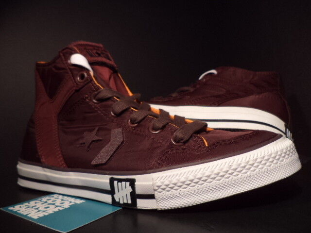 Converse POORMAN WEAPON HI UNDEFEATED TAWNY BURGUNDY RED WHITE BLACK 124127 13
