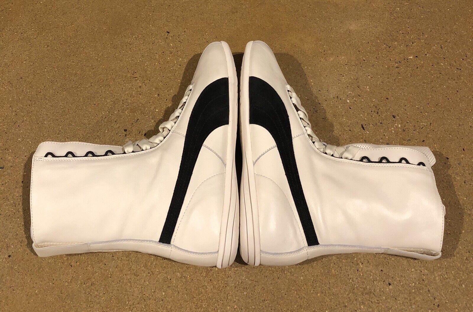 Puma Eskiva Hi Top White Leather Boxing  Fashion Sneakers shoes Womens 10 US