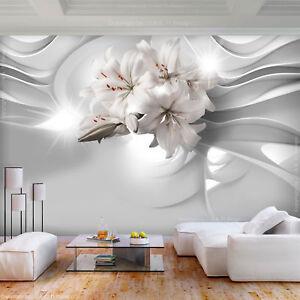 Fototapete XXL Blumen Lilie Abstrakt Orchidee Wohnzimmer Tapete Wandtapete 25