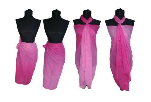 100/% COTONE Sarong Beach Pareo Abito Avvolgente Costume Da Bagno Copertura Extra Large 200 x110cm