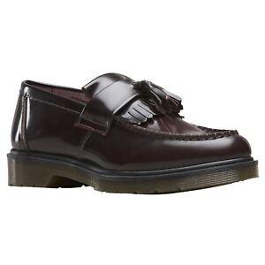 6b2da65e0eb Dr.Martens Adrian Cherry Red Mens Leather Loafers Tassel Slip-on ...