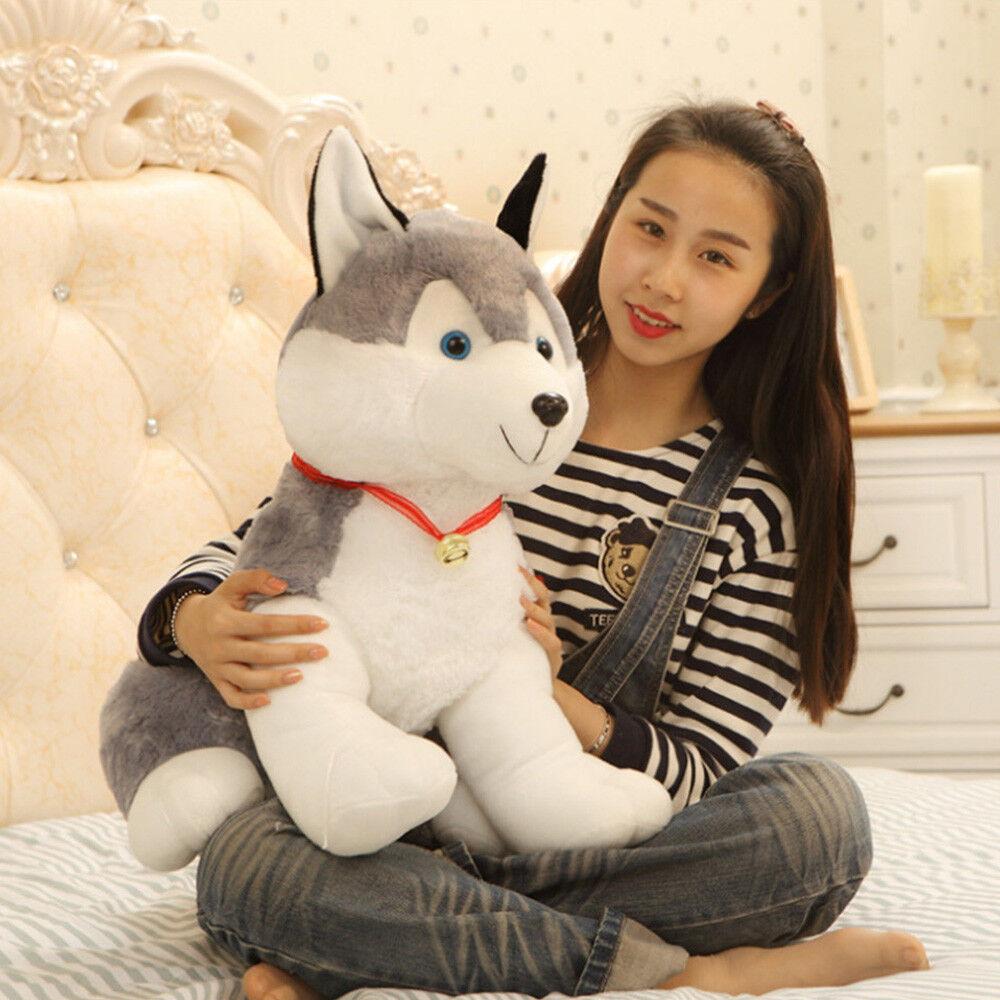 70cm Giant Simulated Husky Dog Plush Soft Stuffed Pillow Animal Doll Toy Gift