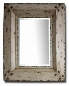 Industrial-Rustic-White-Cafe-Home-Decorative-Classic-Vintage-Retro-Wall-Mirror